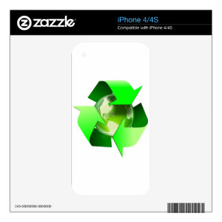 Recycle and save the world. iPhone 4 decals