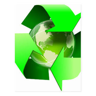 Recycle and save the world. postcard