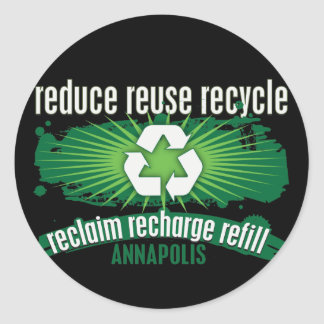 Recycle Annapolis Classic Round Sticker
