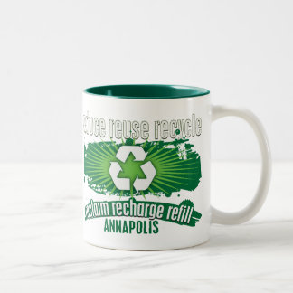 Recycle Annapolis Two-Tone Coffee Mug