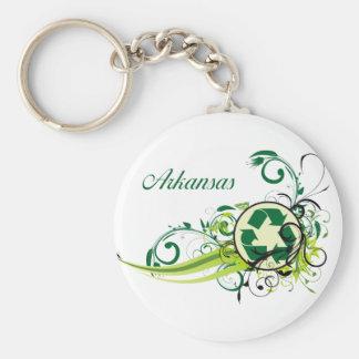 Recycle Arkansas Keychain