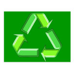 Recycle Arrows Design Post Card