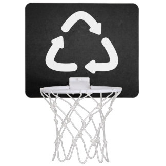 Recycle Arrows Graphic Mini Basketball Hoop