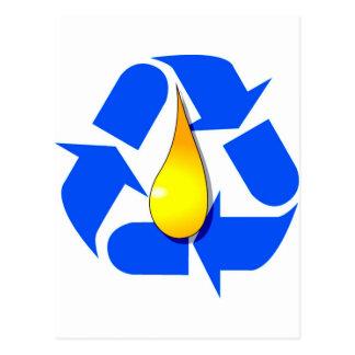 Recycle_Arrows_Oil Postcard