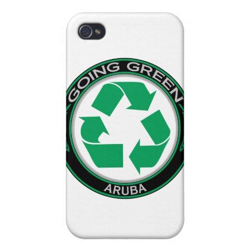 Recycle Aruba iPhone 4 Cases