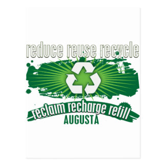 Recycle Augusta Postcard
