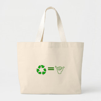 recycle = awesome jumbo tote bag