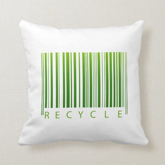 recycle barcode graphic.png throw pillow