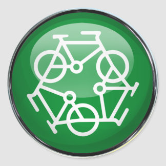 Recycle Bicycle Classic Round Sticker