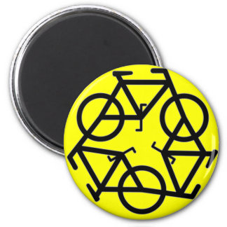 Recycle Bicycle Logo Symbol 2 Inch Round Magnet