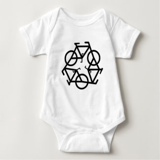 Recycle Bicycle Logo Symbol Baby Bodysuit