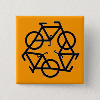Recycle Bicycle Logo Symbol Button