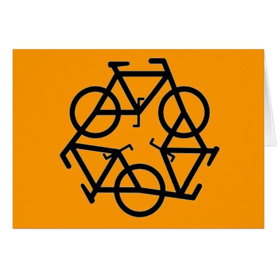 Recycle Bicycle Logo Symbol Card