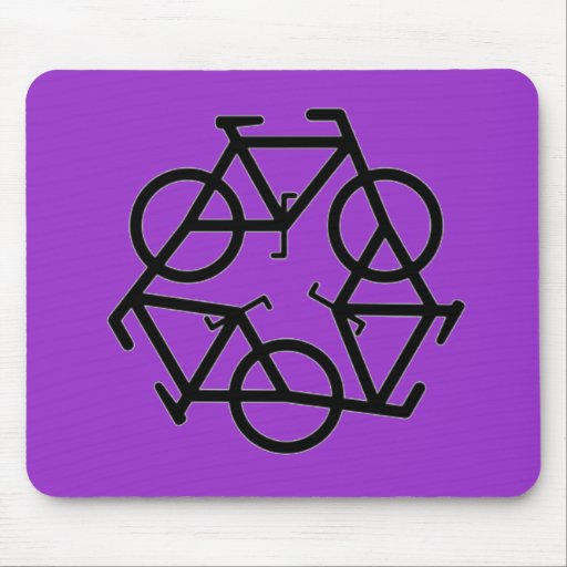 Recycle Bicycle Logo Symbol Mouse Pad