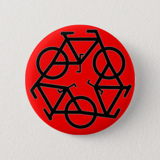Recycle Bicycle Logo Symbol Pinback Button