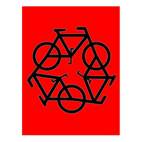 Recycle Bicycle Logo Symbol Postcard