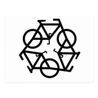 Recycle Bicycle Logo Symbol Postcard