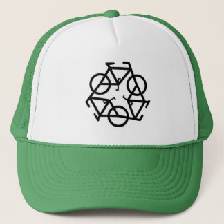 Recycle Bicycle Logo Symbol Trucker Hat