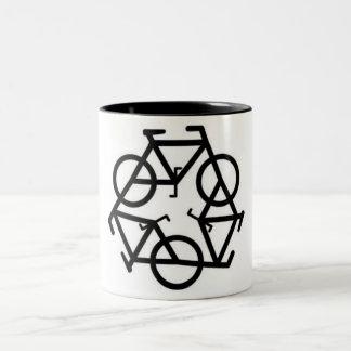 Recycle Bicycle Logo Symbol Two-Tone Coffee Mug