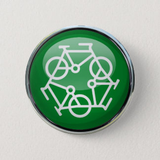 Recycle Bicycle Pinback Button