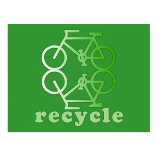 ReCycle Bicycling Art Products Postcard
