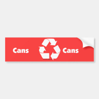 Recycle bin labels for cans with recycle symbol. bumper sticker