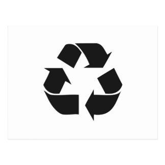 recycle black.jpg postcard
