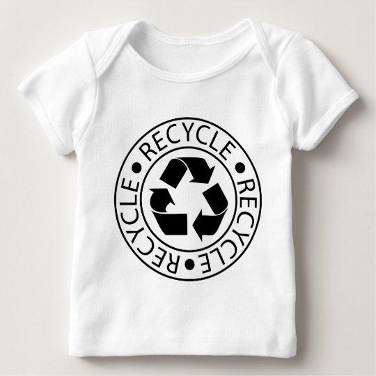 Recycle Black Logo Baby T-Shirt