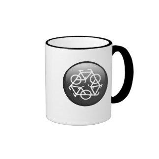 recycle black ringer ceramic mug Petr Kratochvil