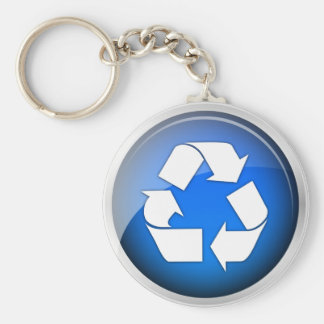 Recycle Blue Icon Keychain