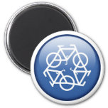 recycle-blue refrigerator magnet