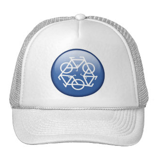 recycle-blue trucker hat