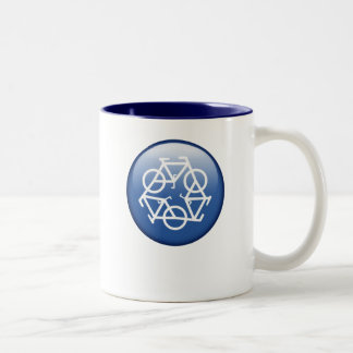 recycle blue two-tone mug by Petr Kratochvil