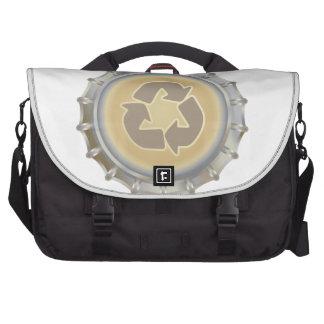 Recycle Bottle Cap Laptop Commuter Bag