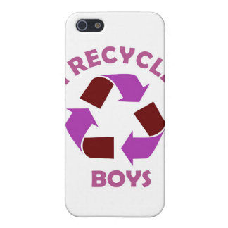 recycle boys funny text humor message pink iPhone SE/5/5s case