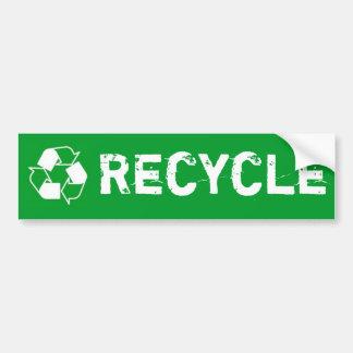 Recycle bumper sticker car bumper sticker