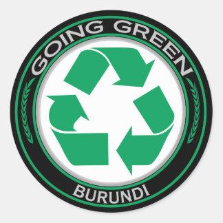 Recycle Burundi Classic Round Sticker