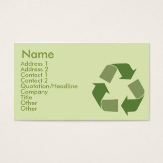 Recycle - Business Business Card
