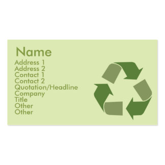 Recycle - Business Business Card Template