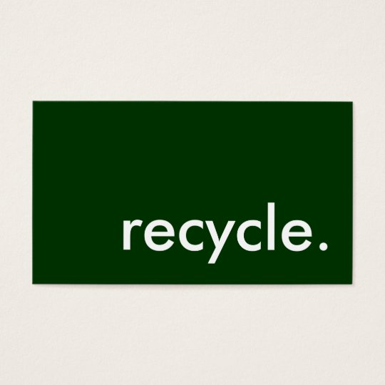 recycle. business card