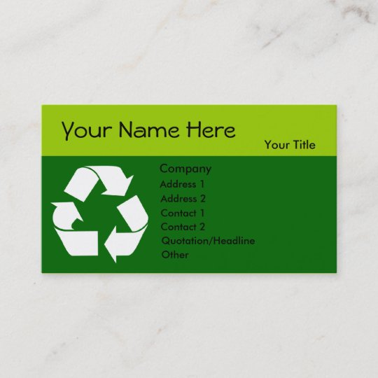 Recycle business card with your information zazzle recycle business card with your information colourmoves
