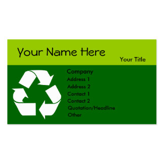 Recycle business card with Your Information