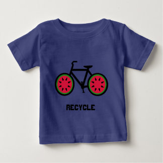 Recycle bycycle baby tshirt