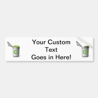 recycle can with grass eco design.png bumper stickers