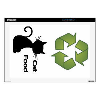 "Recycle & Cat Food Skin Decal For 17"" Laptop"