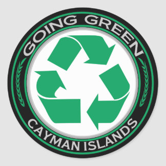 Recycle Cayman Islands Classic Round Sticker