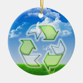 Recycle Ceramic Ornament