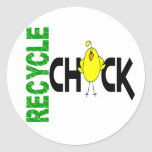 Recycle Chick 1 Classic Round Sticker