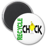 Recycle Chick 1 Refrigerator Magnet