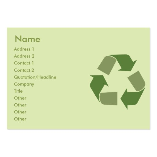 Recycle - Chubby Business Cards